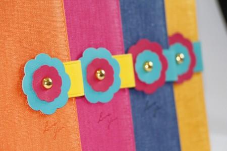 Tagebuch aus PU-Leder im Blumen-Stil
