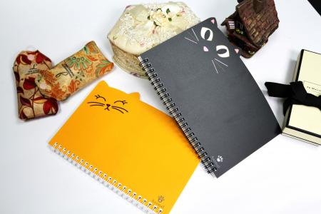 Gullig kattvalsad form A5-storlek journal notebook