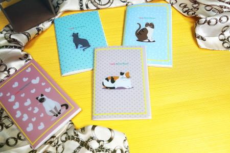 Cute cats PP material cover sewing journal notebook