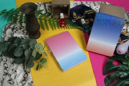 Shining Star design exposed spine journal notebook