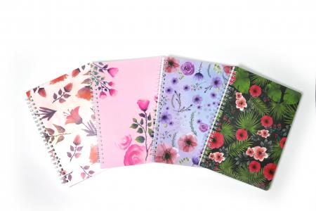 Flowers PP material notebook