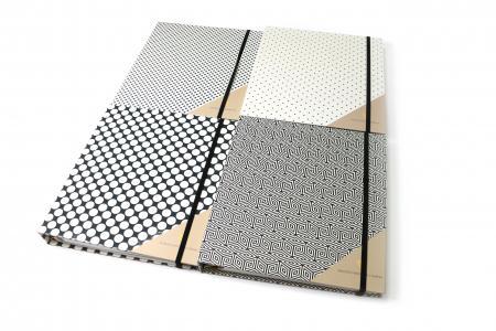 Geometrie verborgen spiraal binnen dagboek