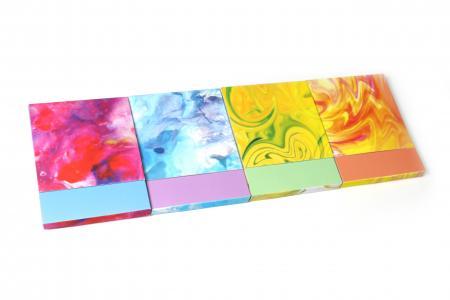 Notizblock mit Wassertinte-Design und Magnet