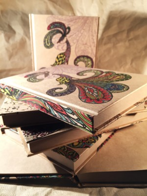 Color Zentangle Art Style Kraft Paper Notebook - Color Zentangle Art Style Kraft Paper Notebook