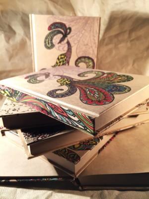 Колір Zentangle Art Style Крафт -папір Зошит - Колір Zentangle Art Style Крафт -папір Зошит