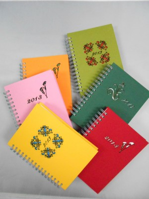 Laser Cut Effect Fabric Cover Planner
