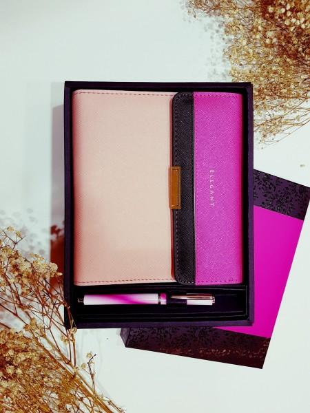 Abendtaschen-Stil PU-Leder-Tagebuch-Geschenkset - Luxus-Geschenkbox für Schreibwaren