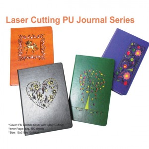 Laser Cut PU Leather Journal