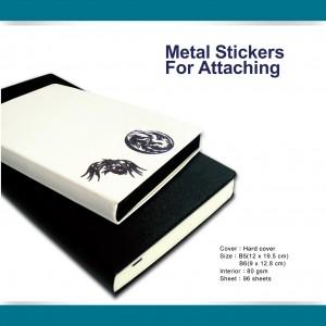 Journal autocollant en métal