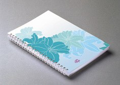 Spiral Blooming Flows Soft Cover Notebook - Spiral Blooming Flows Soft Cover Notebook