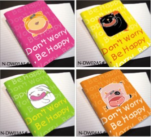 Don't worry Be Happy  Notebook - Glued Binding Notebook Cute Series