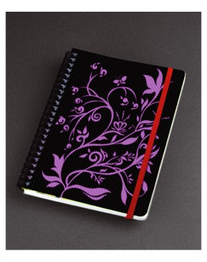 PP Cover Flowers Design Spiral Notebook - PP Cover Flowers Design Spiral Notebook