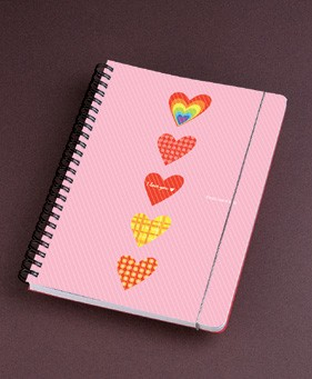 Spiral PP cover with elastic band notebook - Spiral PP cover with elastic band notebook
