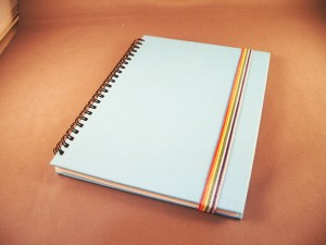 Solid Color Fabric Spiral Notebook - Solid Color Fabric Spiral Notebook