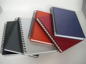 Cahier de bureau à spirale en cuir PU - Cahier de bureau à spirale en cuir PU
