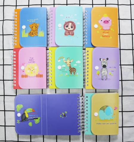 Cuaderno lindo animal PP Mini