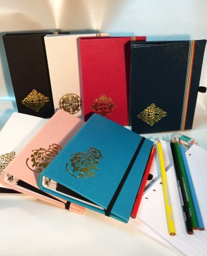 PU-läder Hot Stamp Golden Artwork Notebook