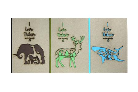 Lasergeschnittenes Notizbuch aus Recyclingpapier