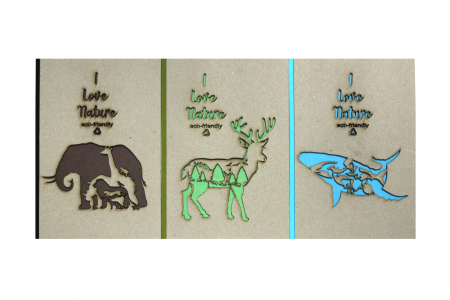 Recycled Paper Laser Cut Notebook