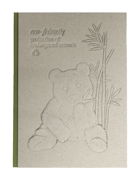 Recycled Gray Board Relief Embossing Notebook