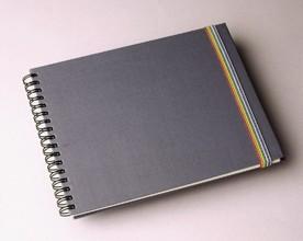 Skizzenbuch aus einfarbigem Stoff - Einfarbiges Skizzenbuch aus Seiden-Baumwolle