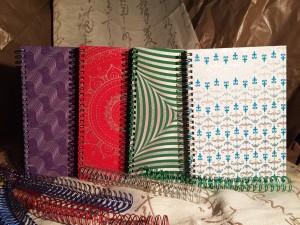 Placage coloré de paillettes de ruban Cahier à spirale - Placage coloré de paillettes de ruban Cahier à spirale