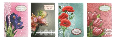 Journal de fleurs en papier de pierre