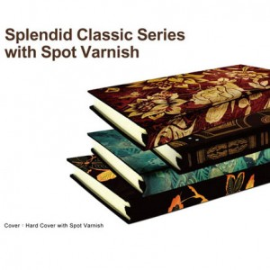 Case Bound Journal with Spot Varnish - Splendid Classic Series