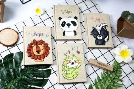 Linen Animal Notebook