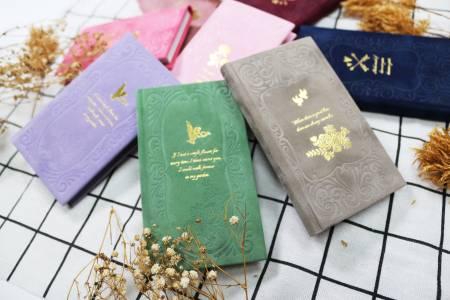 Heißfolien-Tagebuch aus Samtpapier mit kleiner Größe
