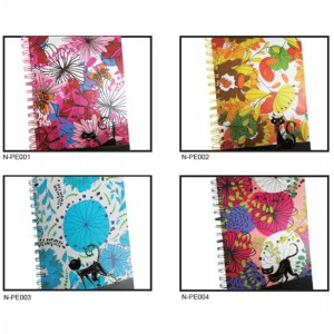 Vinyl-Coated Embossing Spiral Notebook - Vinyl-Coated Embossing Spiral Notebook