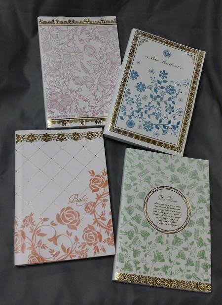 Blumen Notizbuch aus PU-Leder