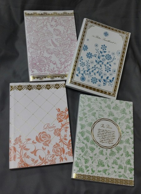 Flowers PU leather notebook