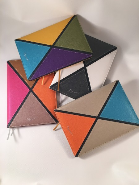Mixed 4 Colors PU leather Journal - 2016 Latest contrast color PU series - mixed 4 colors