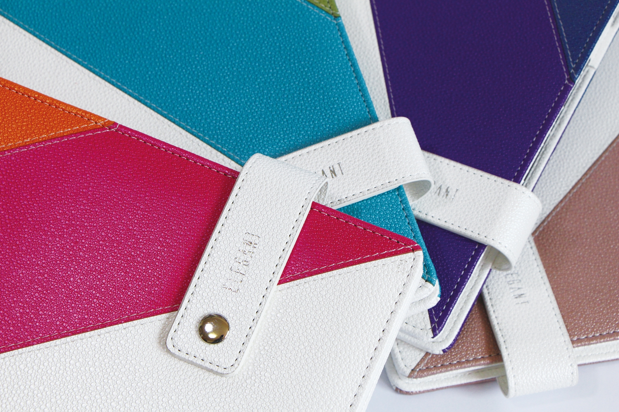 Mixed 3 Colors PU leather Journal - 2016 Latest contrast PU series
