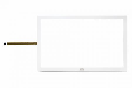 Framed Touch True-Flat Resistive Touch Screen-White