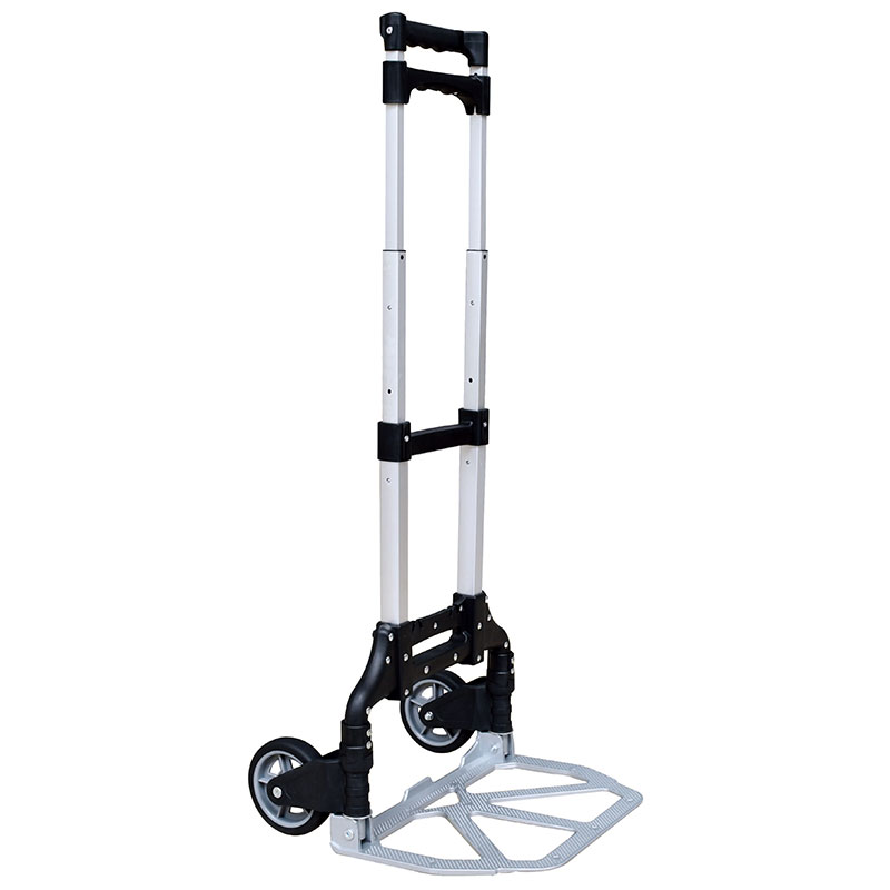 Aluminum Hand Truck features compact, foldable and easy carrying.