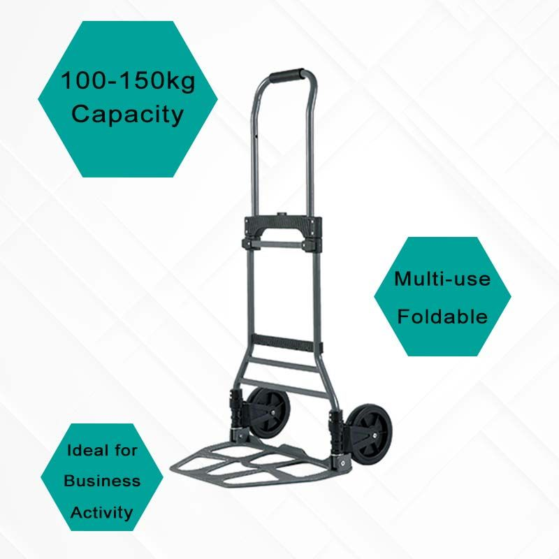 100 to 150 kg loading hand trolley, suitable for different commercial activities.