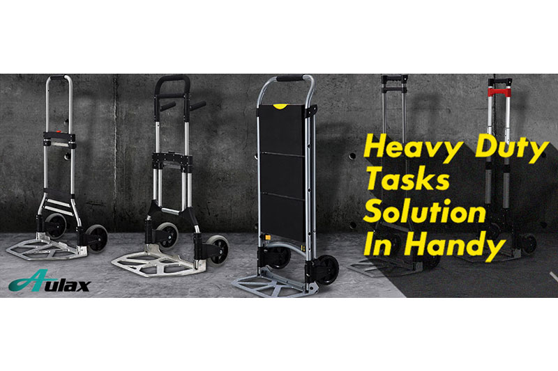 Hand truck offers a better solution of solid and sturdy.