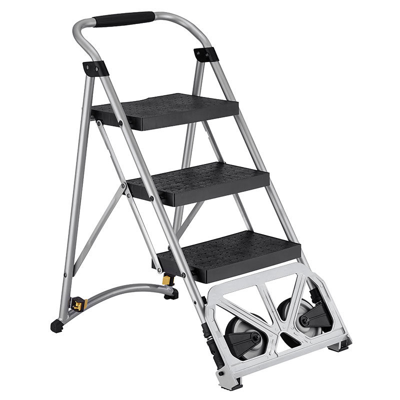 Folding step ladder is certification compliant