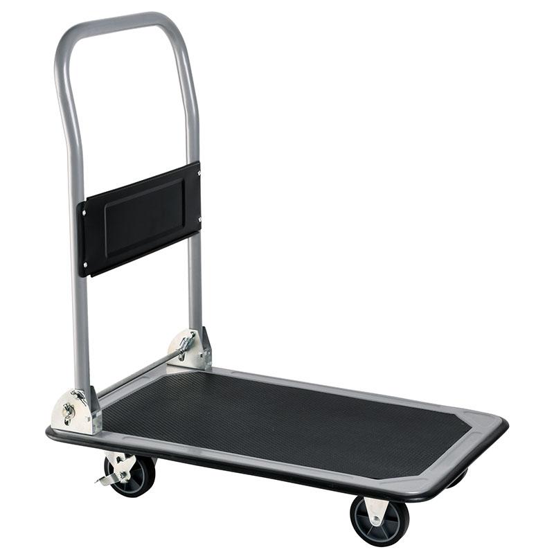 Folding Steel Heavy-Duty Cart is industrial grade castors used