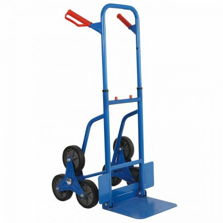 "U Haul Welded Steel Industrial Stair Hand Truck (Loading 200 KG) - Steel climbing hand trolley equip 6"" big soild wheel"