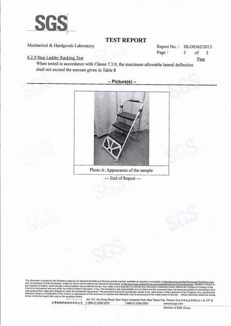 2015 二合一樓梯推車SGS 測試報告