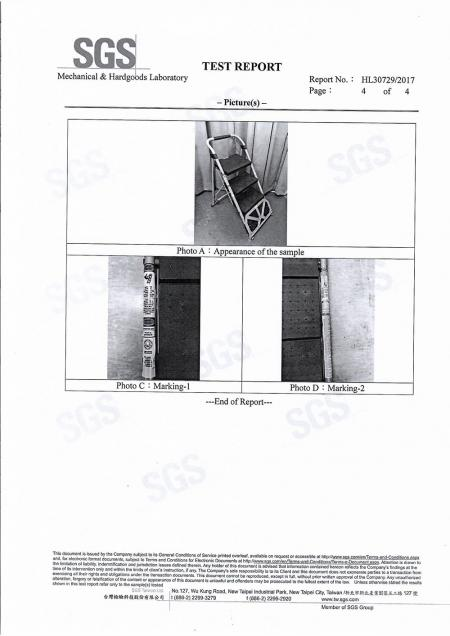 2017 2 in 1 Step Ladder Cart SGS Test Report