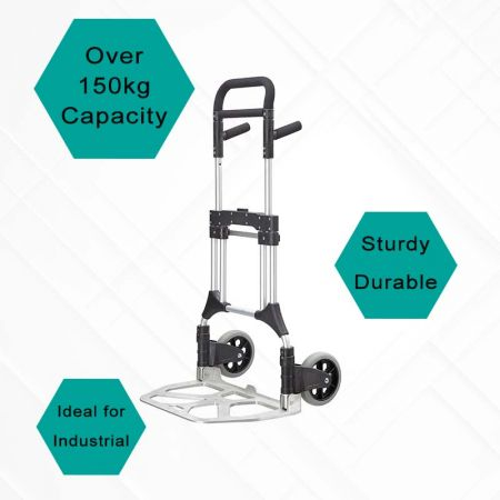 Over 150 Kg Capacity Hand Trucks - More than 150kg loading heavyduty trolley, creating a safe and efficient working environment.