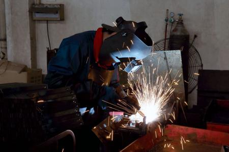 All the employees on welding line are required to wear safety gears.