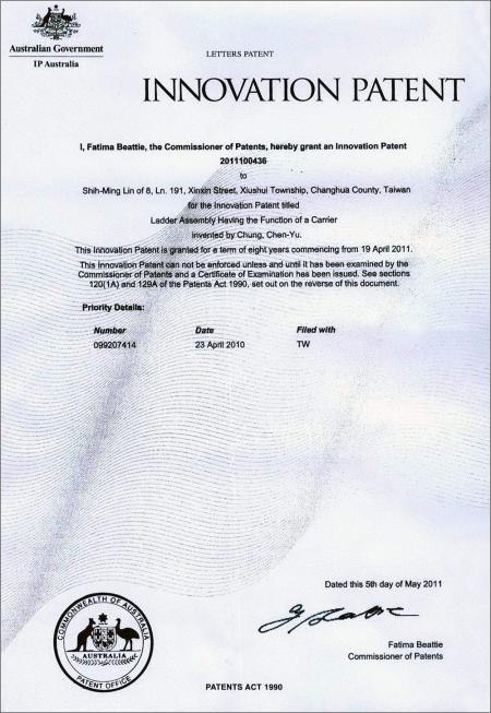 2 in 1 Step Ladder & Cart Australia patent