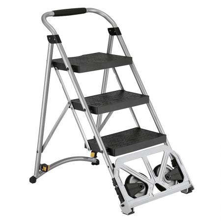 Ladders - Step ladder is featuring multi-purpose, compact and easy storage.