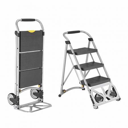 Multi-Functional 2 in 1 Step Ladder Cart