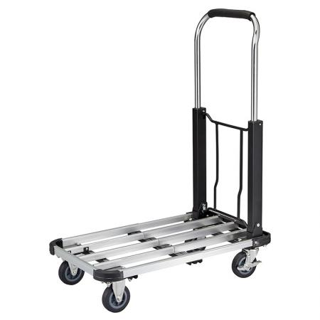 Extendable Metal Platform Cart Folding Handle (Loading 150 kg) - Aluminum platfrom cart is GS certified